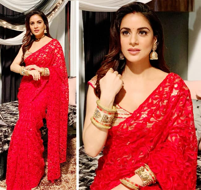 Shraddha Arya makes our hearts skip a beat with her saree look