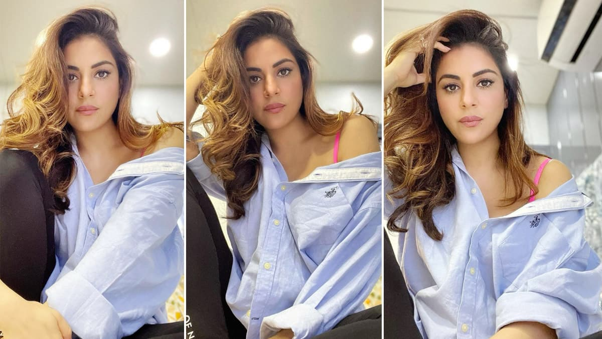 Shraddha Arya Shares Her Alluring Photos In Oversized Shirt And Gym Trousers