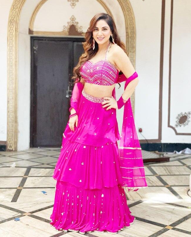 Shraddha Arya Stuns Fans With Her Mesmerising Lehenga Look