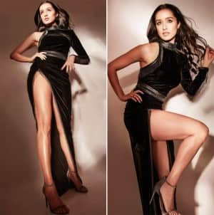 Shraddha Kapoor is Sassy and Stylish in Black Velvet Gown With a Thigh High Slit | View Pics