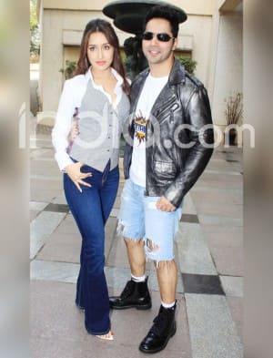 Shraddha Kapoor Kapoor And Varun Dhawan Dress in Style as They Gear up to Promote Their Upcoming 'Street Dancer 3D'