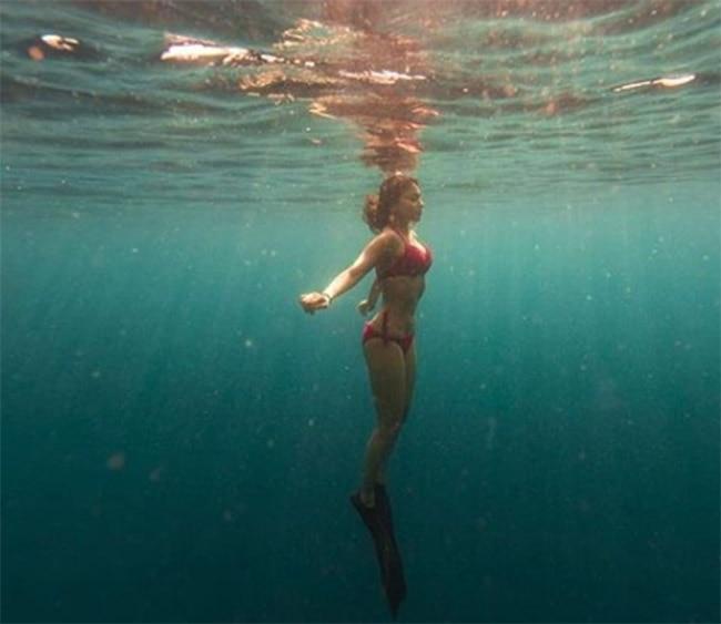 Shriya Saran is a water girl  slays in a bikini underwater