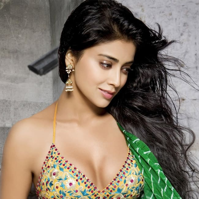 Shriya Saran shows off cleavage in sexy HD picture