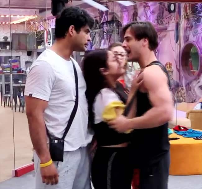 Sidharth Shukla punches on Asim Riaz   s chest