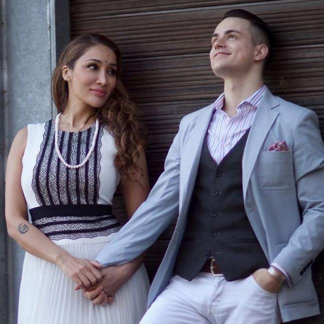 Sofia Hayat adoring her fianc   Vlad Stanescu