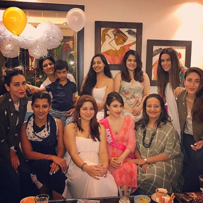 Soha Ali Khan with group of besties during her baby shower