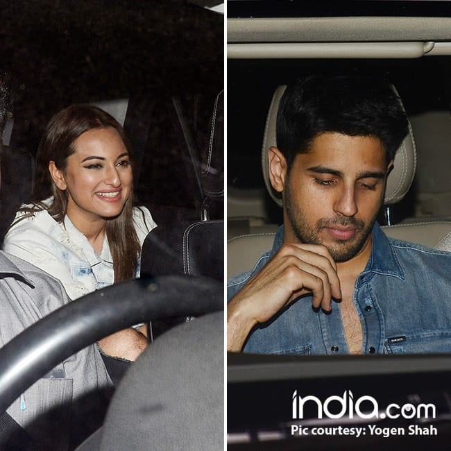 Sonakshi Sinha and Sidharth Malhotra during Ittefaq screening