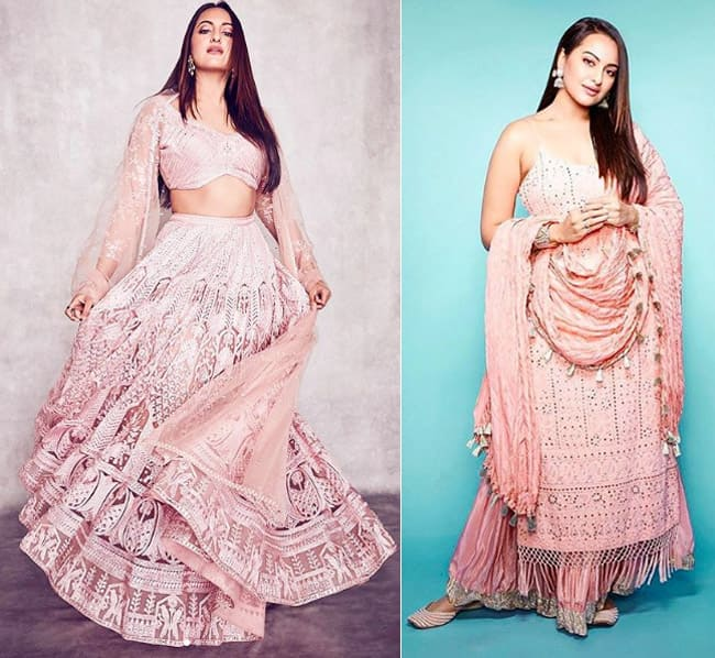 Sonakshi Sinha goes pink for Dabangg 3 promotions