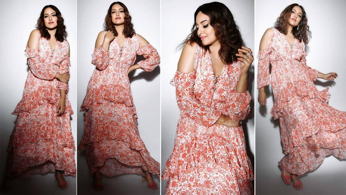 Sonakshi Sinha is Pretty in Pink Floral Dress For The Promotions of Mil Mahiya