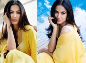 'Jannat Movie' Fame Sonal Chauhan Shows Her 'Sunny Side' in Gorgeous Yellow Junne Outfit For Her Upcoming 'Ruler' Promotion - PICS