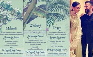 7 most interesting wedding invites of the royal Bollywood couples