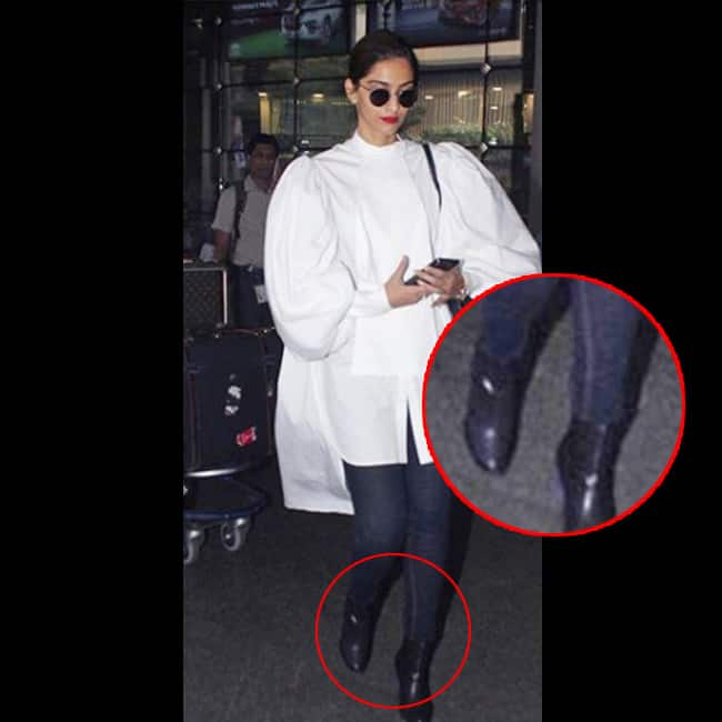 Sonam Kapoor in ankle length black boots
