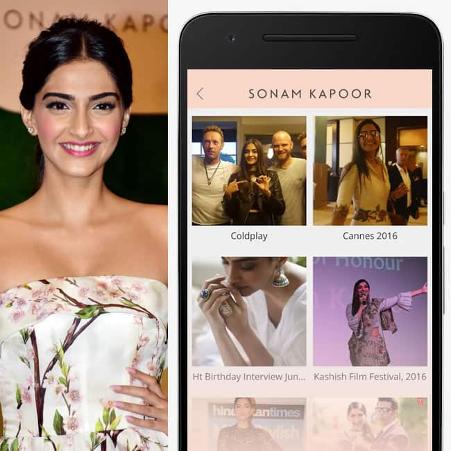 Sonam Kapoor launched her app Sonam Kapoor