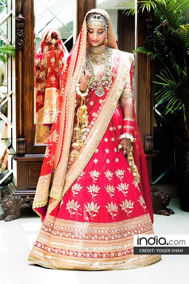 Sonam Kapoor on her wedding day