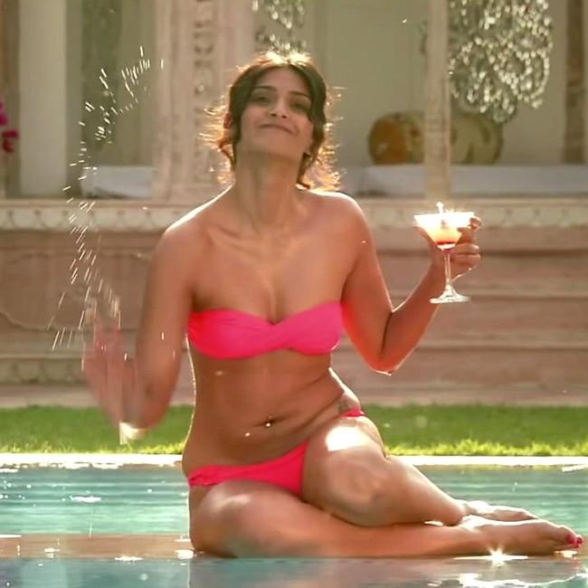 Image result for sonam kapoor pink bikini