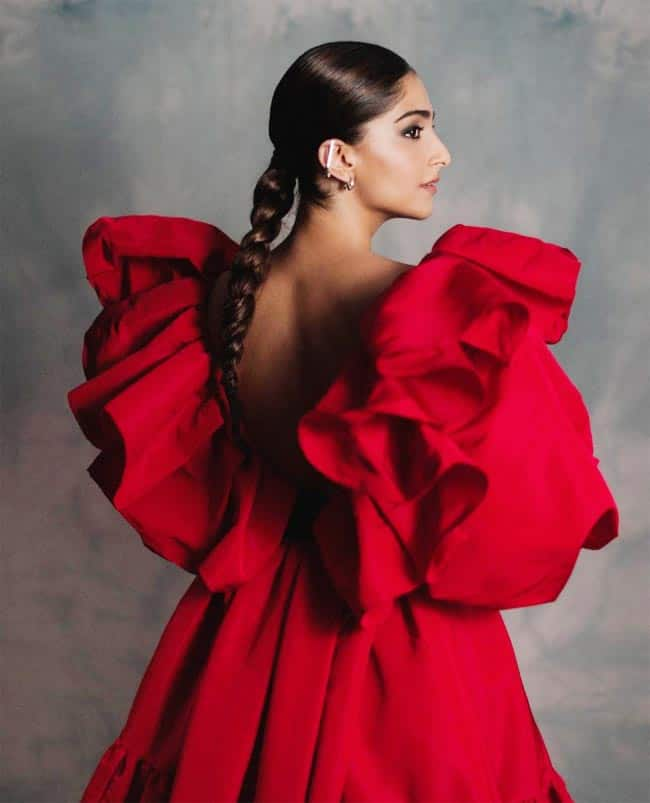 Sonam Kapoor Shares Gorgeous Pictures in Red Dress