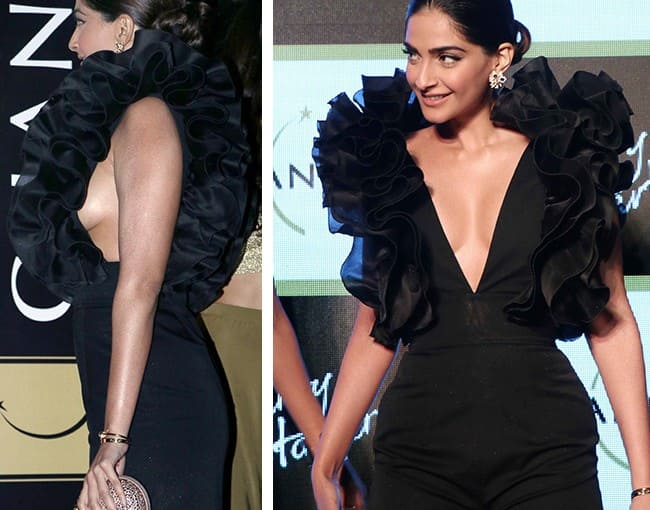 Sonam Kapoor In Rasario At A Launch Event Oops Sonam Kapoor Shows