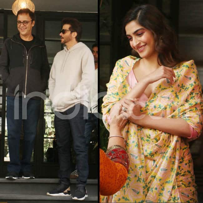 Sonam Kapoor wears a pastel floral saree