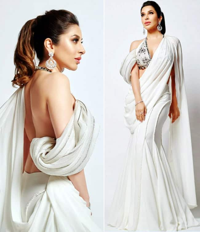 Sophie Choudry Goes Sultry as She Flaunts Her Bare Back in Stunning White Ensemble