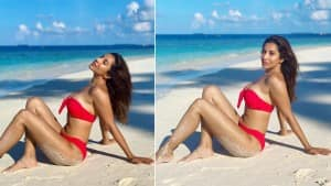Sophie Choudry Slays in a Red Bikini, Talks About Body Positivity in New Post - See Pics