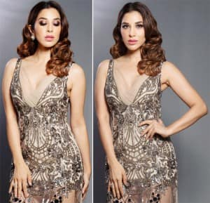 Photos: Sophie Choudry 'Channeling Vintage Vibes in Stunning Manish Malhotra Gown'