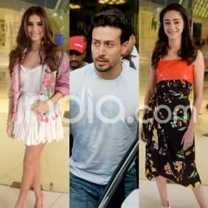 Student of The Year 2: Tiger Shroff, Tara Sutaria, Ananya Panday Look Cool in Funky Colourful Outfits as They Promote Film