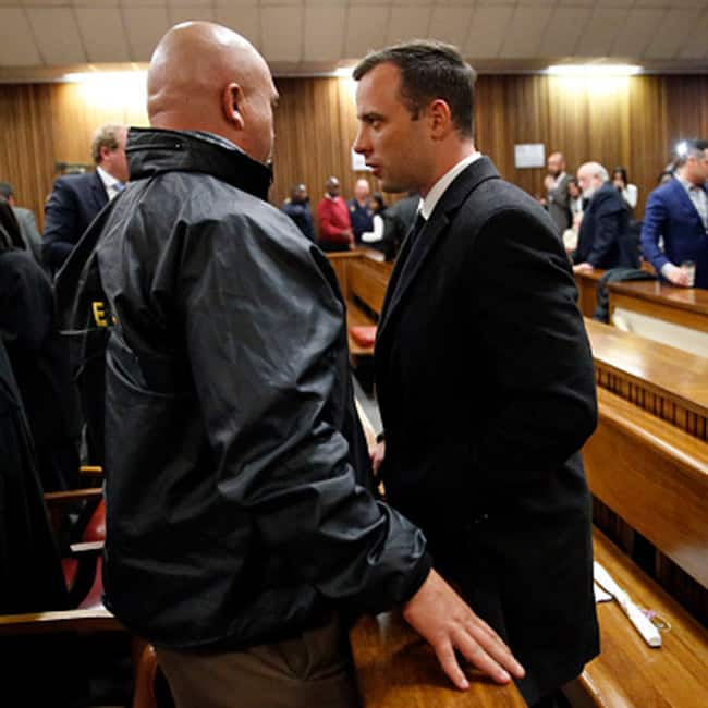 South African Olympic athlete Oscar Pistorius clicked at High Court in Pretoria  South Africa