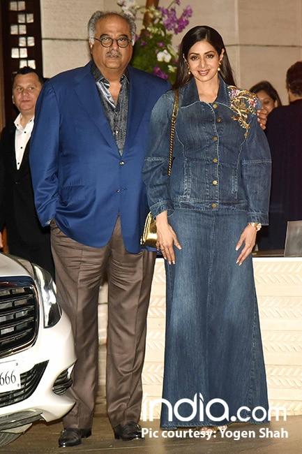 Sridevi with Boney Kapoor at Mukesh Ambani   s house party