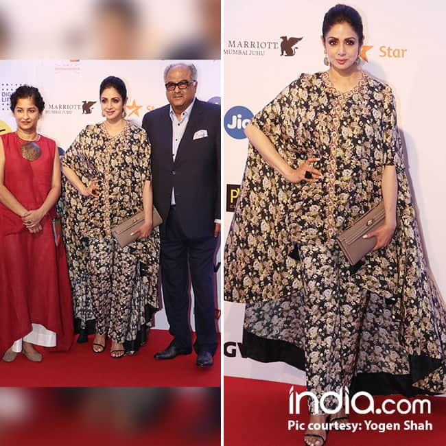 Sridevi with husband Boney Kapoor at red carpet of MAMI Film  festival 2017
