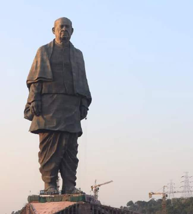Statue of Unity  is the 597 feet high structure of Sardar Vallabhbhai Patel