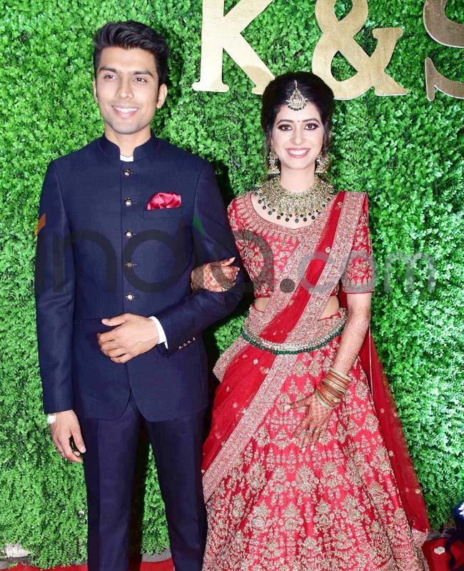 Suchita Pandey stunning in the red bridal lehenga