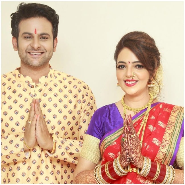 Sugandha Mishra turns Marathi mulgi for Sanket Bhosale after wedding