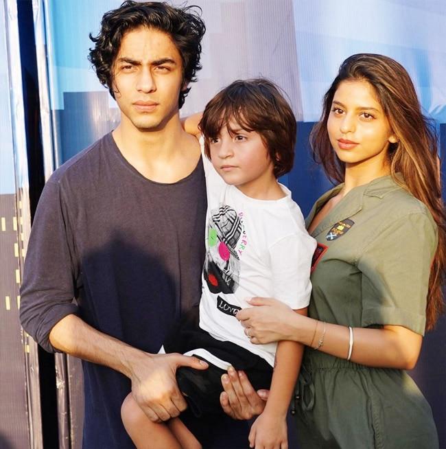 Suhana with her siblings