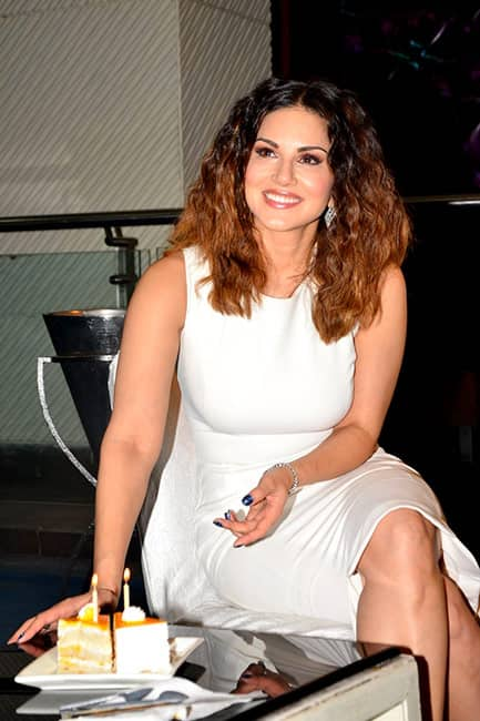 Sunny Leone clicked during her birthday celebrations