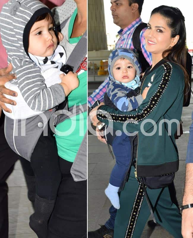 Sunny Leone gets clicked with her kids