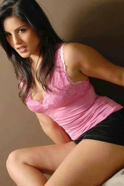 Sunny Leone in bodycon hot outfit