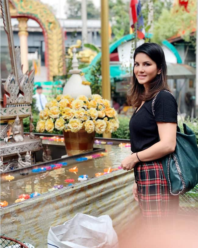 Sunny Leone is currently vacationing in Thailand