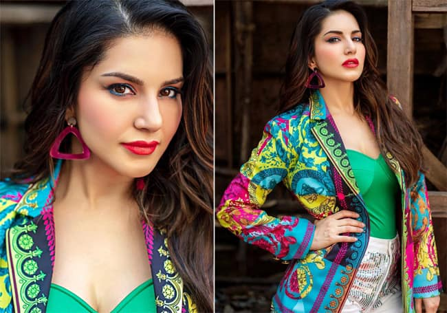 Sunny Leone Looks Hot as She Goes All Bold And Colourful This Holi
