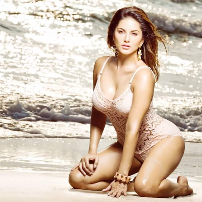 Sunny Leone Looks Smoking Hot AF in Sexy Lace Monokini  Check Her old Picture Here