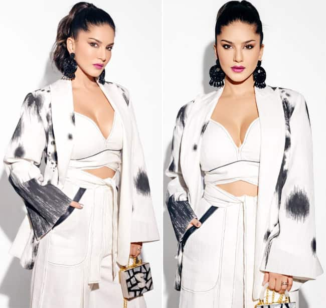 Sunny Leone Opts For White co ord Outfit For Dabboo Ratnani Calendar Launch Event