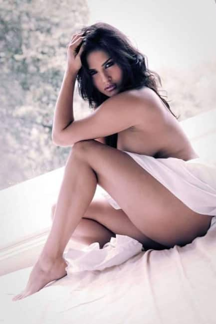 Sunny Leone poses semi nude for a shoot