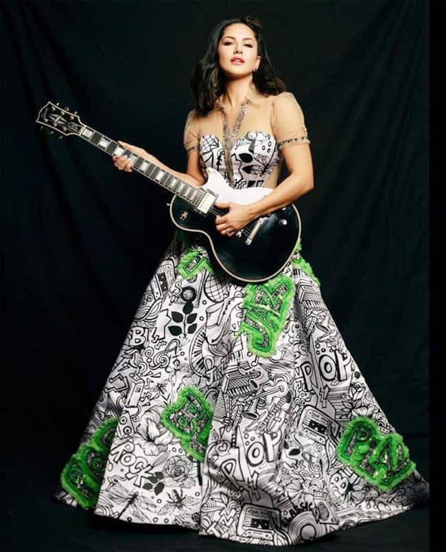 Sunny Leone Poses With Guitar