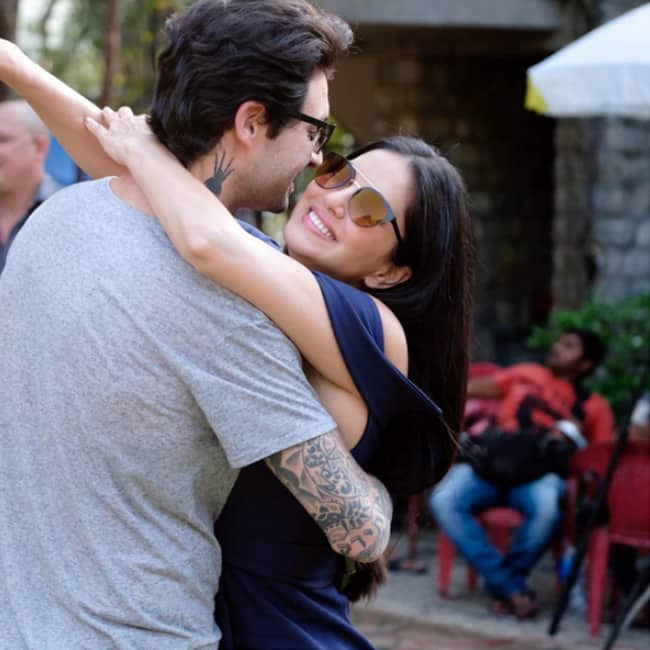 Sunny Leone shares a cute picture with her husband on Instagram