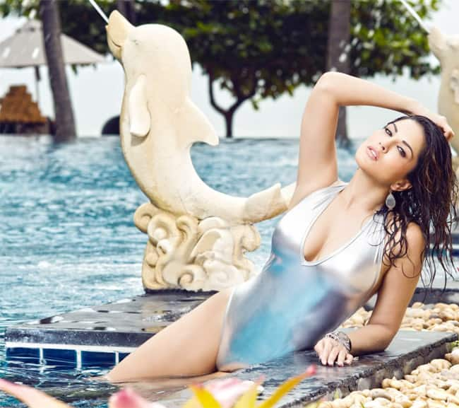Sunny Leone Shares Her Sultry Picture in Silver Monokini