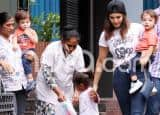 Sunny Leone Snapped with Her Kids Outside Nisha's Playschool