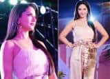 Sunny Leone is Making Heads Turn in Beige Crop Top And Shimmery Pants