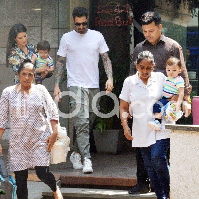 Sunny Leone with family