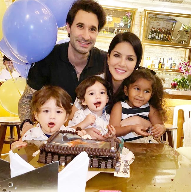 Sunny Leone   s birthday  Check adorable pictures of the actor with her family