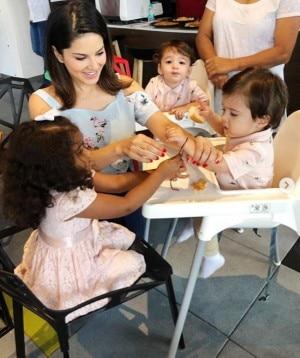 Sunny Leone Celebrates Raksha Bandhan With Rannvijay Singha And Her Cute Kids