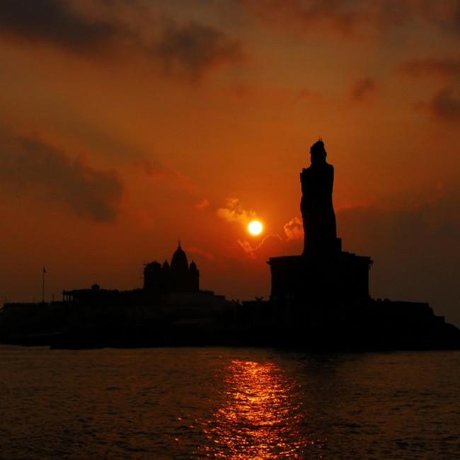 Sunset point in Kanyakumari  Tamil Nadu